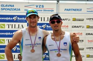 dvojni dvojec (od leve): Janez Zupan, Gašper Fistravec