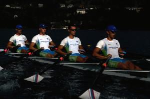 dvojni četverec od leve: Gašper Ostanek, Matej Grobelnik, Borut Rebolj, Gašper Ferlinc