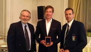 od leve: Dominik Keller, Iztok Čop, Jean-Christophe Rolland
