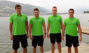 Od leve proti desni: Filip Pfeifer, Miha Aljančič, Jaka Čas, Jaka Malešič